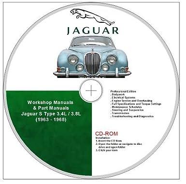 jaguar s type 3 4l 3 8l workshop manual parts catalogue covers rh amazon co uk 2005 Jaguar S-Type Recalls Jaguar S-Type Performance Parts
