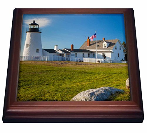 3dRose trv_206076_1 Pemaquid Point Lighthouse near Bristol, Maine, USA.-Trivet with Ceramic Tile, 8