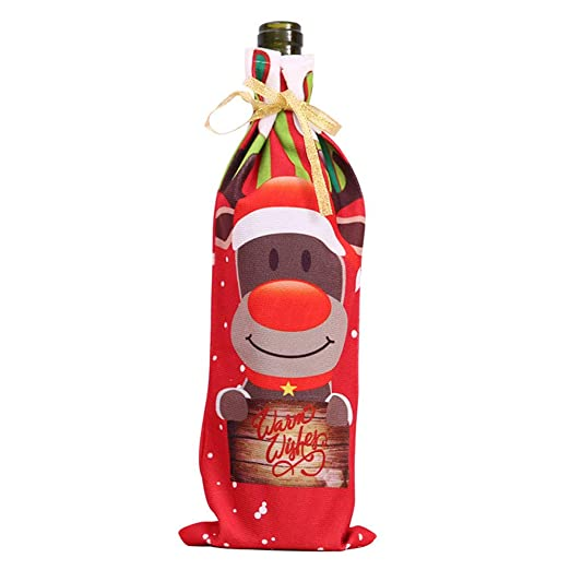 Bolsas Navidad Botellas Vino Bolsa Botella Vino para Hogar Navidad ...