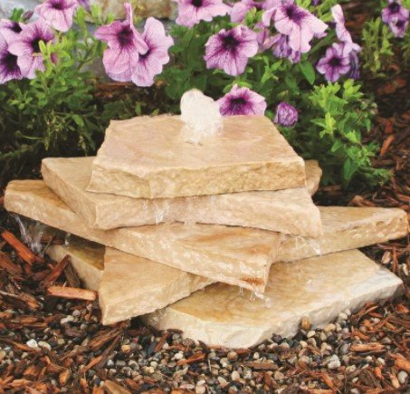 Bubbling Rock Fountain Kit, Sand Stone