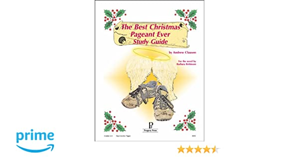 Workbook bible studies for kids worksheets : The Best Christmas Pageant Ever Study Guide: Andrew Clausen ...