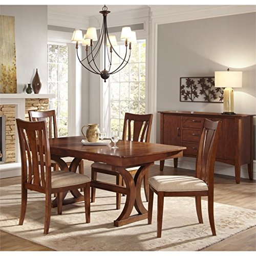 A-America Grant Park 6 Piece Extendable Dining Set in Pecan
