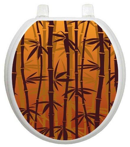 Toilet Tattoos TT-1033-R Bronzed Bamboo Design Toilet Seat ...