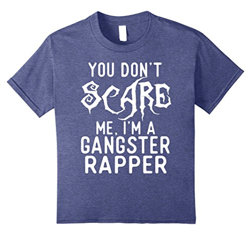 Cheap Halloween Costumes For Best Friends (Kids Funny Gangster Rapper Shirts Halloween Costume Joke Gag Gift 8 Heather Blue)