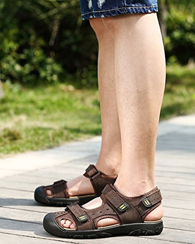 DianShaoA All'Aperto Scarpe Uomo Sandali Acqua Pescatore Mare Spiaggia Scuro Marrone Sneakers Sportivi da Escursionismo Sandali Piscina fq0v4wrf
