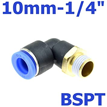 """10 mm Tube Push in Fitting to 1//2/"""" BSPT Female Air Pneumatic Connector"""