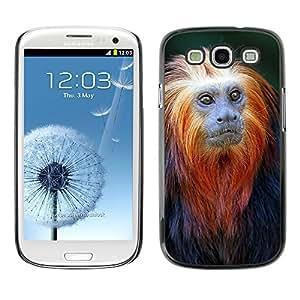 Planetar® ( Monkey Tiny Cute Ape Tropical Exotic ) SAMSUNG Galaxy S3 III / i9300 / i747 Fundas Cover Cubre Hard Case Cover