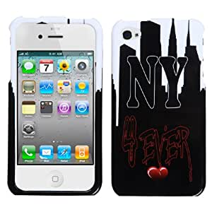 MYBAT IPHONE4HPCIM1134NP Slim and Stylish Snap-On Protective Case for iPhone 4, Retail Packaging, NY Love
