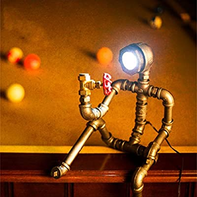 China Palaeowind Creative Retro Water Pipe Thinker Robotic Decorative Lamps Table Lamps