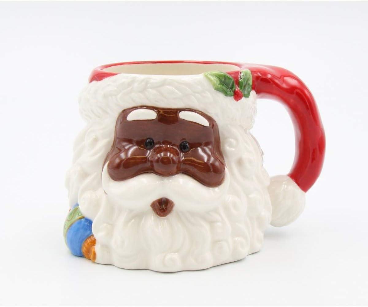3D African American Santa Claus Mugs
