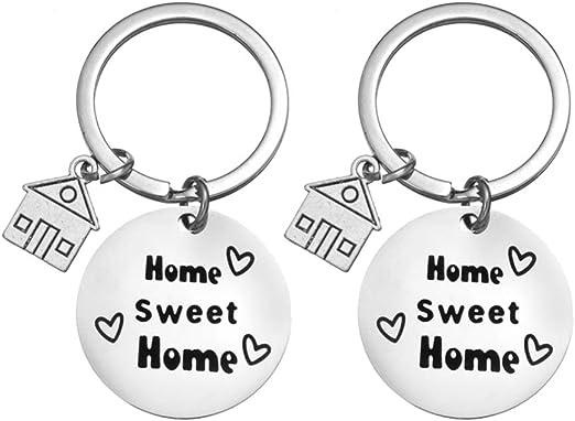 regalo per coppia di proprietari di casa per feste di inaugurazione della casa 2 portachiavi a forma di puzzle con incisione New Home New Adventures Zysta