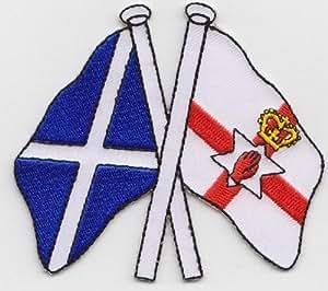 Escocia e Irlanda del Norte amistad (a430) Badge bordados bandera