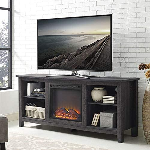 Pemberly Row 58 Fireplace TV Stand in Charcoal