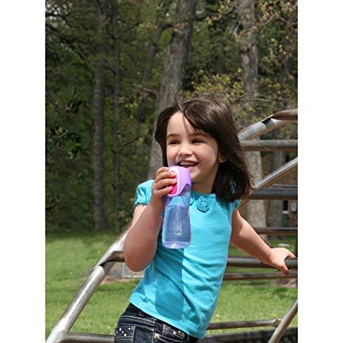 Contigo AUTOSEAL Trekker Kids Water Bottles, 14 oz, Cherry Blossom & Amethyst, 2-Pack