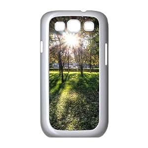 Sunlit Grove in Downtown Beijing Samsung Galaxy S3 Cases, Samsung Galaxy S3 Case I9300 Shockproof Girl Protective Okaycosama - White