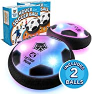 Let Loose Moose Hover Soccer Ball – Set of 2 - Indoor Hover Ball with LED Lights and Soft Foam Bumpers to Prot