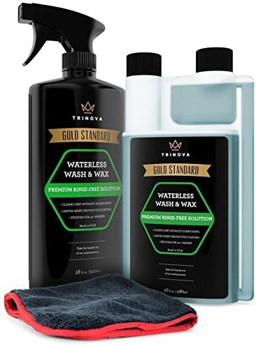 TriNova Waterless Car Wash and Wax Kit