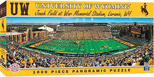 MasterPieces NCAA Wyoming Cowboys 1000 Piece Stadium Panoramic Jigsaw Puzzle