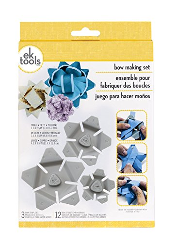 EK tools 54-03007 3-Piece Bow Making Kit, - Sheet Organza