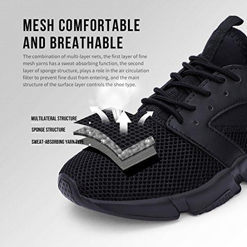 a30761c0e4dbaa Ritiriko Herren Sportschuhe - Laufschuhe Bequem Atmungsaktives Turnschuhe  Sneakers Gym Fitness Schwarz EU43  Amazon.de  Schuhe   Handtaschen