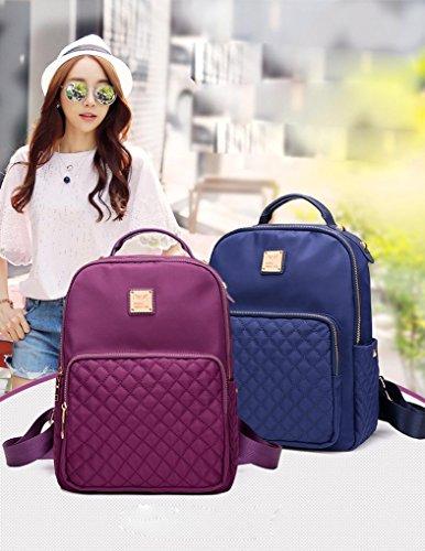 Fen Rucksäcke Damen Taschen Damen Rucksack Oxford Tuch Freizeit Reisen Sekundär Schule Tasche (schwarz, blau, lila), blau