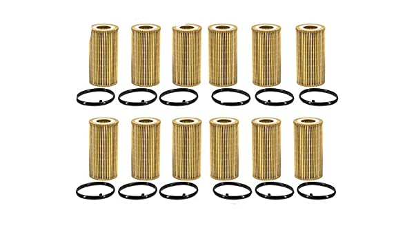 06-08 A3 2.0L 12 Pack 12// 100/% New Oil Filter for 05-09 Audi A4
