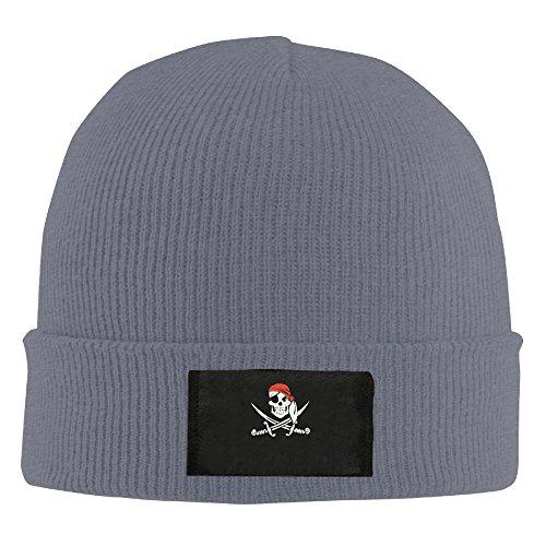 Winter Jolly Roger Pirate Flag Skull Buccaneer Beanie Hat ()