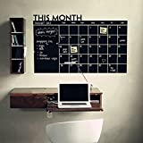 25'' x 39'' Monthly Plan Calendar Chalkboard Wall Sticker MEMO Blackboard Vinyl Study Room Wall Stickers Home Wall Decor For Office Classroom