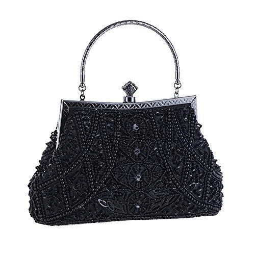 Vintage Perles Ofgcfbvxd Clutch À Strass Purse Couleur Femmes Noir Grey Bridal Main Mariage Dames Sac Evening Bag wrqXtXE