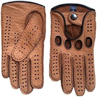 Autohandschuhe Herren Peccary Leder Hungant Hersteller braun