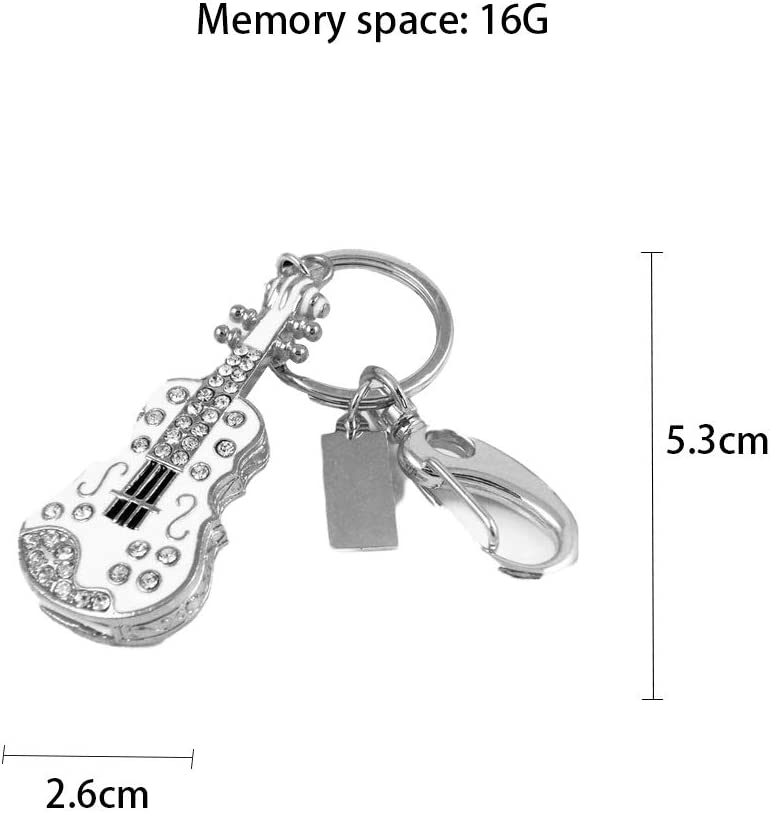 Computers Accessories Creative Guitar USB2.0 Memory Stick 16G 32G2.65.30.6cm Red White Flash Drive Waterproof 10-11 Color : A, Size : 32G