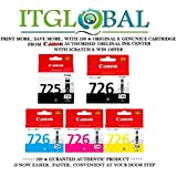 CANON PGI 725 Black & CLI 726 BK/C/Y/M [Set of 5 Cartridge] -Special ITGLOBAL Combo With Scratch & Win Reward Offer - From ITGLOBAL