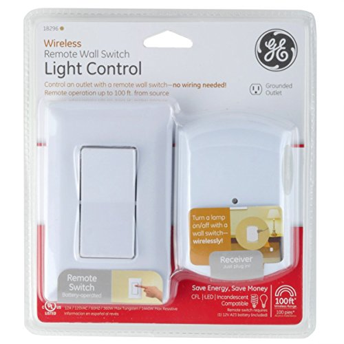 Ge wireless indoor remote wall switch light control 18296 ge wireless indoor remote wall switch light control 18296 electrical outlet switches amazon mozeypictures Image collections