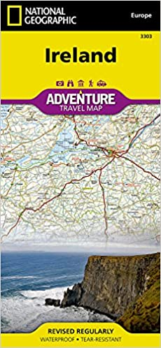 Ireland national geographic adventure map national geographic flip to back flip to front gumiabroncs Gallery