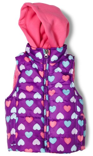 Pink Platinum Baby Girls' Ripstop Hooded Vest