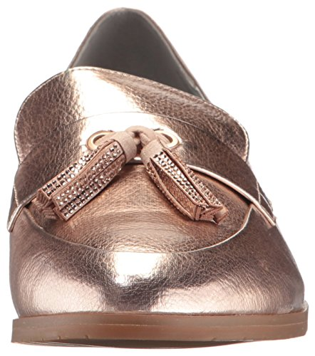 Kenneth Cole REACTION Womens Jet Ahead Dress Tassel Detail Metallic Slip-On Loafer Rose lHHe1EF13
