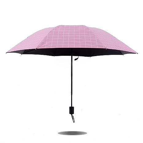 iTemer - Sombrilla Cuadrada con Protección UV, Paraguas Ligero y ...
