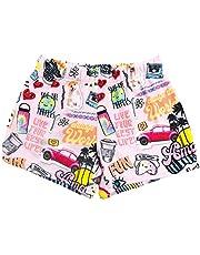 iscream Big Girls Silky Soft Plush Fleece Shorts - Pretty in Print Collection