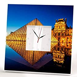 Louvre Paris Museum Wall Clock Mirror Framed French Art Palace Gallery Home Decor Printed Gift