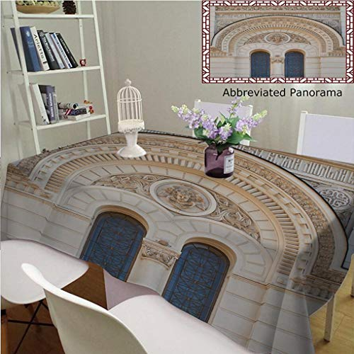 Amavam Unique Custom Cotton Linen Tablecloths Church Window in A Classical Style Architecture Tablecovers Rectangle Tables, 70'' Wx 52'' L, 180x130cm by Amavam (Image #8)