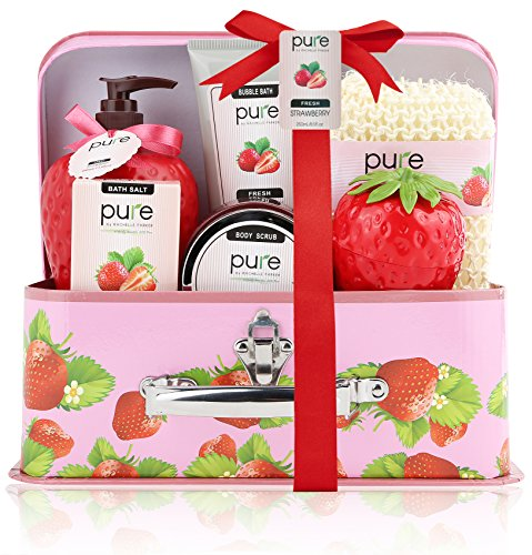 [Pure! Spa in a Basket. Deluxe Gift Set for Women (Fresh Strawberry)] (Need Gift Basket Supply)