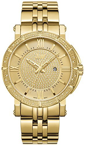 JBW Men's Luxury J6343A Vault 0.24 ctw 18k Gold-Plated Stainless-Steel Diamond Analog Watch - 18k Wrist Watch