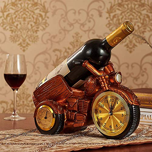 JUSTINZ Resin Material Wine Rack, European Motorcycle Watch Style, Holds 1 Bottle of Your Favorite Wine - Elegant Looking Wine Rack, 30 X 14 X 27cm.