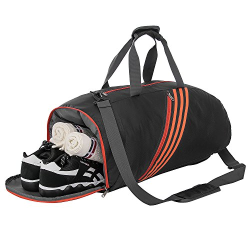 Riavika Travel Duffel Bag Lightweight Large Luggage Bag Carry on Sport Gym Bag-Black For Sale