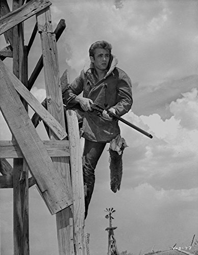 Coat Print Velvet (Posterazzi GLP469052LARGE Poster Print Collection James Dean Posed In Fur Collar Velvet Long Sleeve Coat With Hands Holding A Rifle Photo Print, (8 X 10), Multicolored)