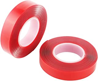 TOOHUI 2Pcs Double Sided Clear Servo Tape, Super Strong Adhesive Tape, Waterproof Mounting Adhesive Tape, Easy Remove (15mm x 3m)