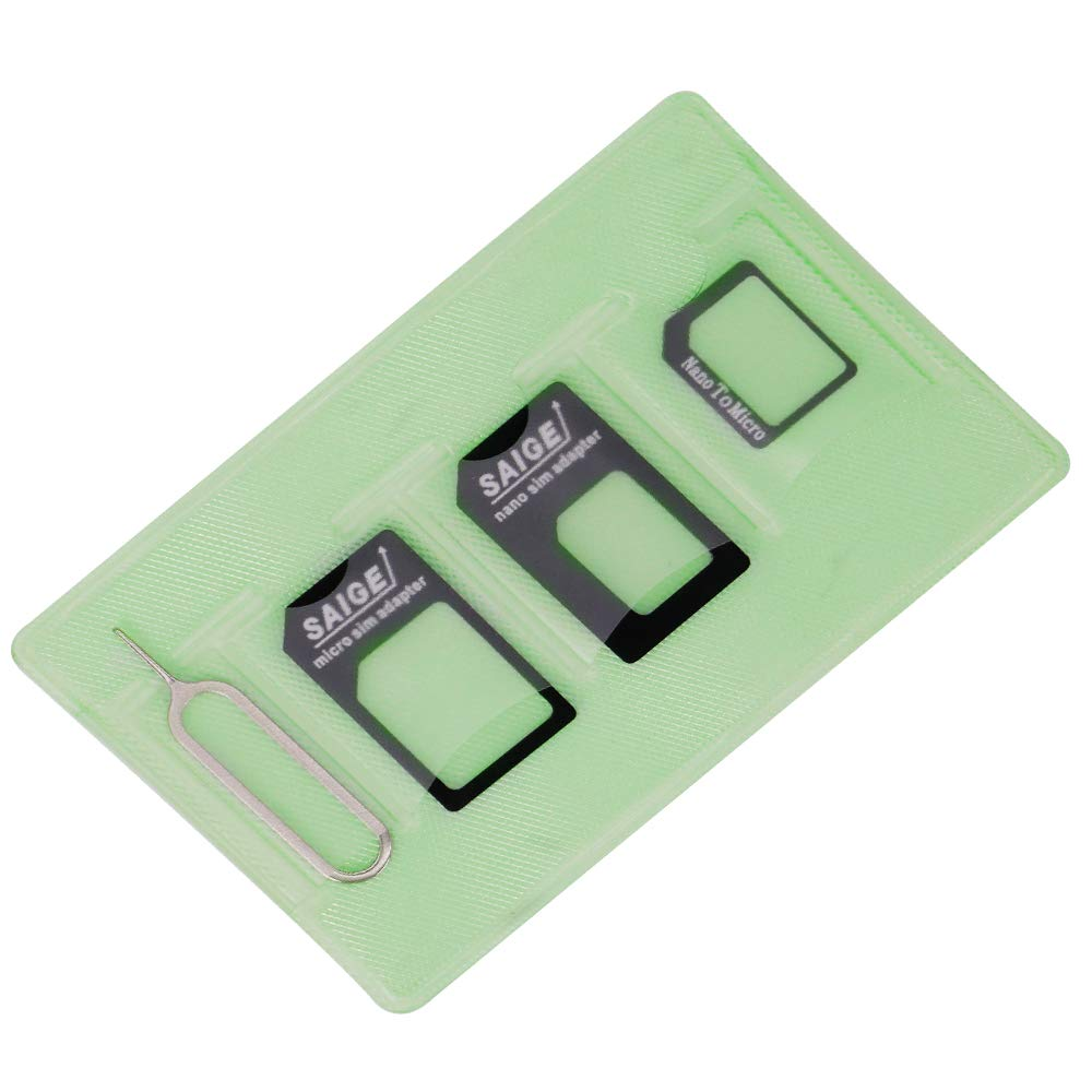 Nano Sim Card Adapter 5 in 1 Sim Card Adapter Kit Micro Sim Card Holder with Needle For Smartphone Iphone