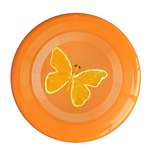 LINNA Unisex Orange Butterfly Outdoor Game, Sport, Flying Discs,Game Room, Light Up Flying, Sport Disc ,Flyer Frisbee,Ultra Star Orange One Size