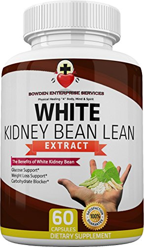 White Kidney Bean Lean Extract 100% Optimized All Natural (60 Vegan Caps) Potent Carb Intercept Formula 1200mg Carb Blocker Weight Loss Booster Glucose Support Waist Shrink Prevents Fat Cells Forming