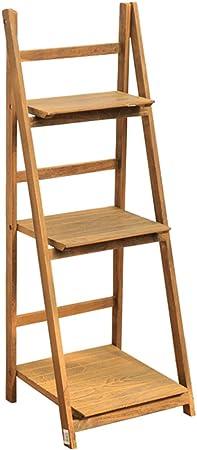 Estantes de flor de escalera de 3 niveles Estante de flor plegable de madera de pie